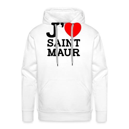 J'aime Saint-Maur ! - Sweat-shirt à capuche Premium pour hommes