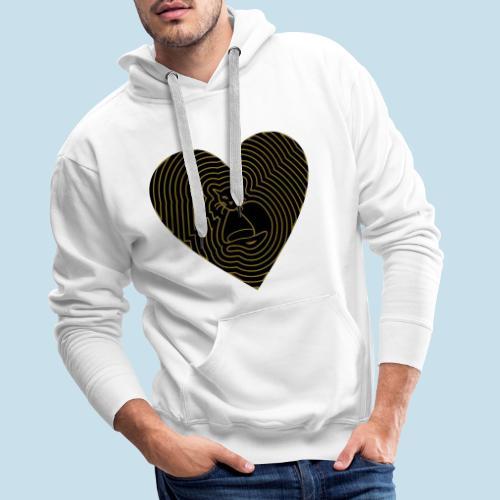 Katzen Herz Spirale 2 Färbig - Männer Premium Hoodie