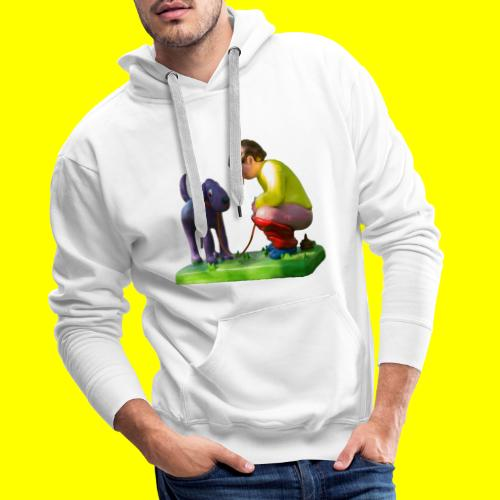 Mannetje Poep vrijstaand - Mannen Premium hoodie