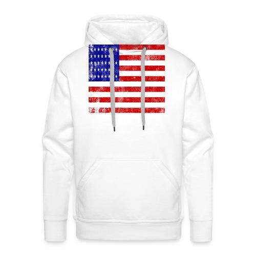 funny american flag mask - Sweat-shirt à capuche Premium pour hommes