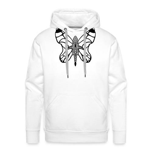 shark butterfly - Sweat-shirt à capuche Premium pour hommes