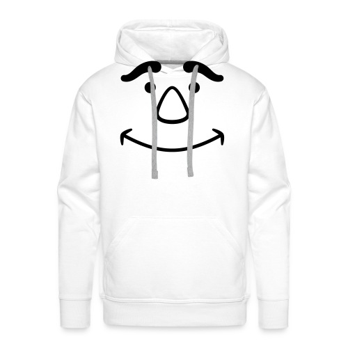 Satisfied Face - Men's Premium Hoodie