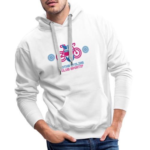 Logo bike 3x - Sweat-shirt à capuche Premium pour hommes