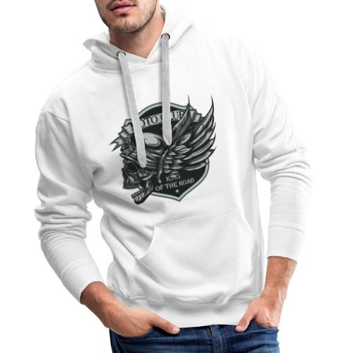 motoclub - Sudadera con capucha premium para hombre