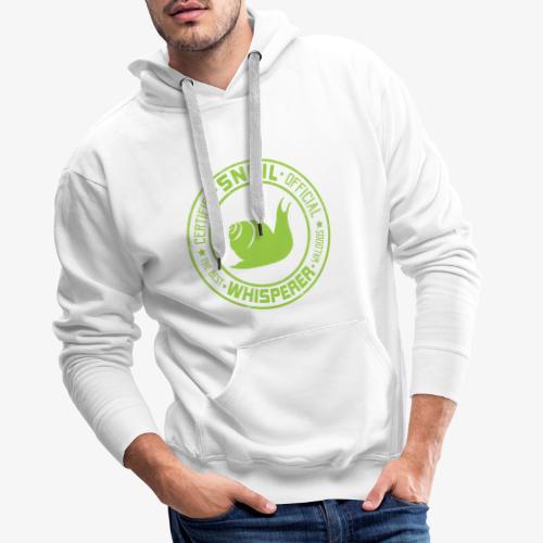 Snail Whisperer Green - Miesten premium-huppari