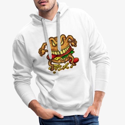 La malédiction du burger - Sweat-shirt à capuche Premium pour hommes