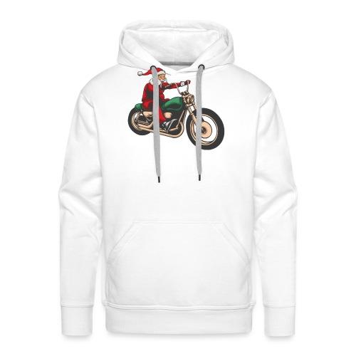 Cool Christmas Santa Motor Biker - Men's Premium Hoodie