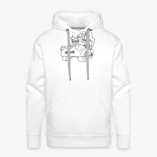 gova dinos - Sweat-shirt à capuche Premium pour hommes