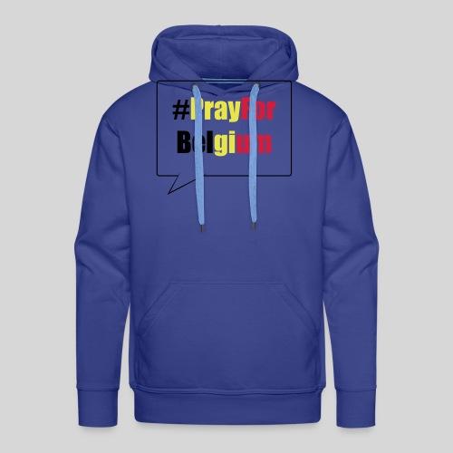 #PrayForBelgium - Sweat-shirt à capuche Premium pour hommes