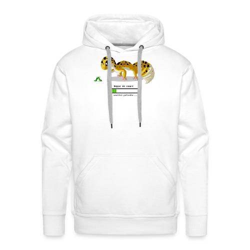 Gecko feeding time - Sweat-shirt à capuche Premium pour hommes