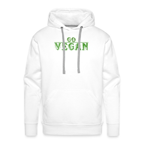 Go Vegan Langarmshirt Herren - Männer Premium Hoodie