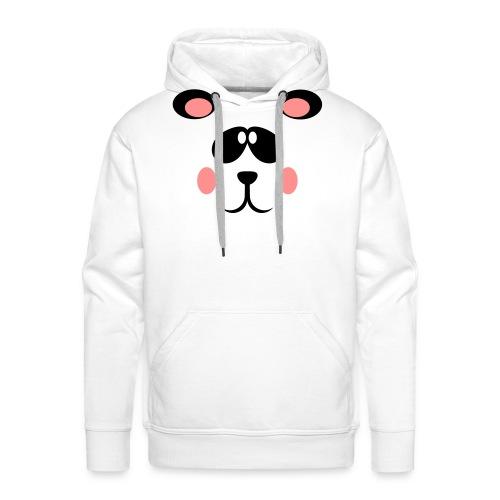 Blozende pandabeer - Mannen Premium hoodie