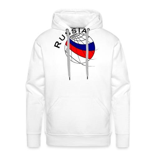 Russland Fußballmotiv - Sudadera con capucha premium para hombre