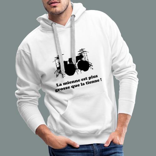 La mienne est plus grosse - Sweat-shirt à capuche Premium pour hommes