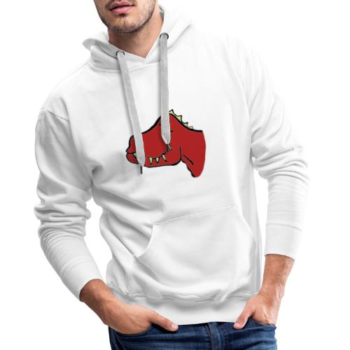 T Rex, Red Dragon - Men's Premium Hoodie