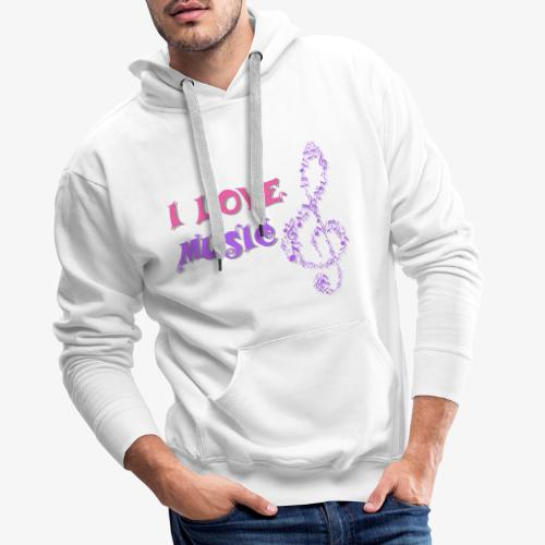 Love Music - Sudadera con capucha premium para hombre