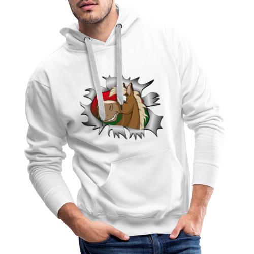 Lustiges Pferde Design Reiten - Männer Premium Hoodie