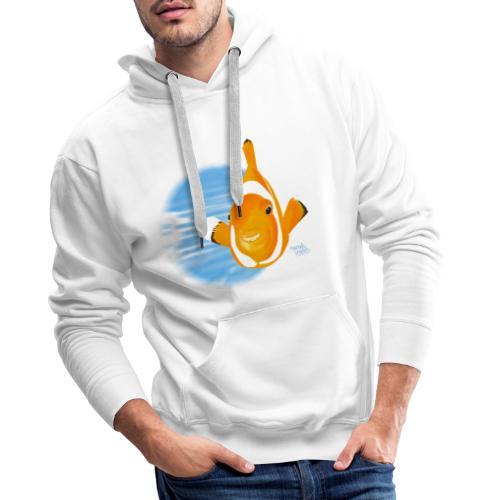 Poisson clown - Sweat-shirt à capuche Premium pour hommes