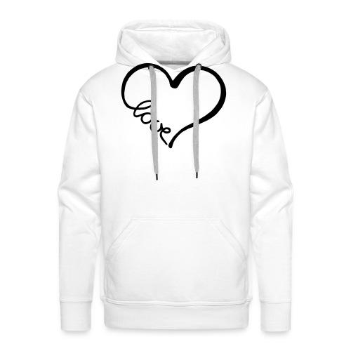 love heart 2 - Men's Premium Hoodie