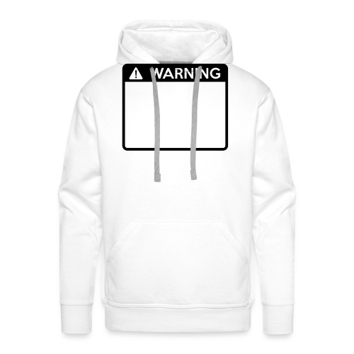 Warning Sign (1 colour) - Men's Premium Hoodie
