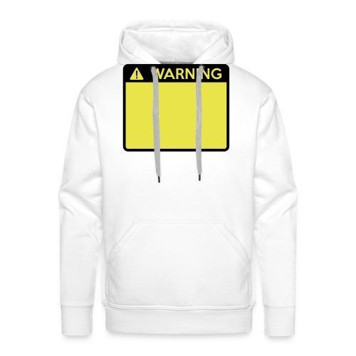 Warning Sign (2 colour) - Men's Premium Hoodie