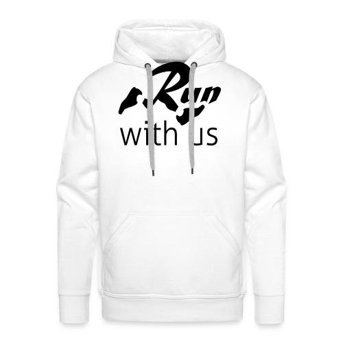 Run with us - Männer Premium Hoodie