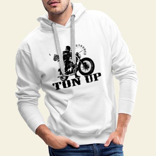 ton up black - Herre Premium hættetrøje