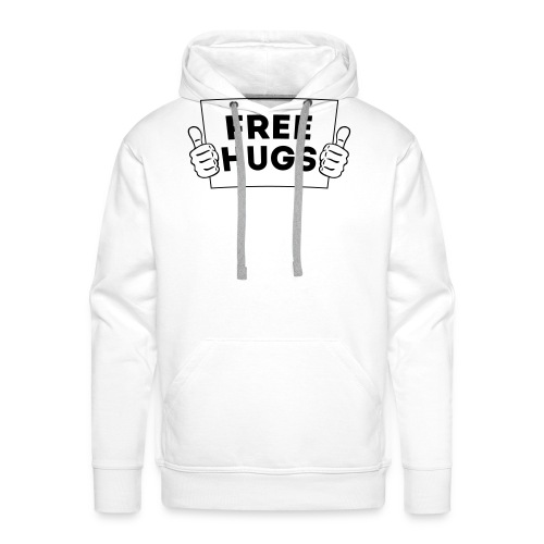 FREE HUGS! Daumen Hoch / Like Schild 1C - Männer Premium Hoodie