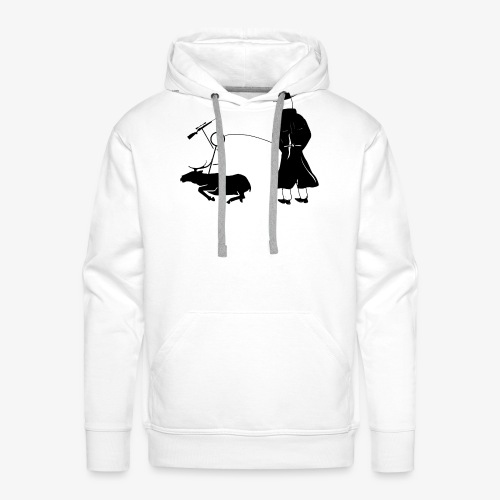 Pissing Man against hunting for wildlife - Männer Premium Hoodie