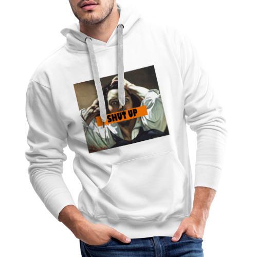 Gustave Courbet SHUT UP - Sweat-shirt à capuche Premium pour hommes