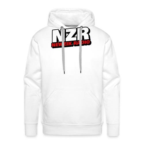 NewZikRadio Logo basic full - Sweat-shirt à capuche Premium pour hommes