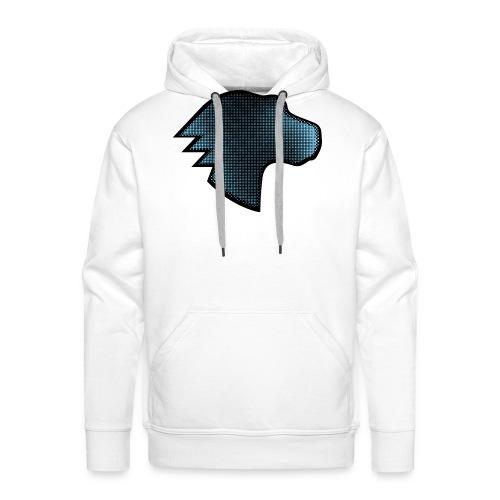 MDN Blue Gradient Dino - Men's Premium Hoodie