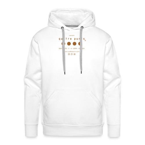 QUATRE PUNTS logo brown - Sudadera con capucha premium para hombre