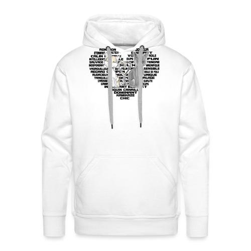 Cœur de chat noir - Sweat-shirt à capuche Premium pour hommes