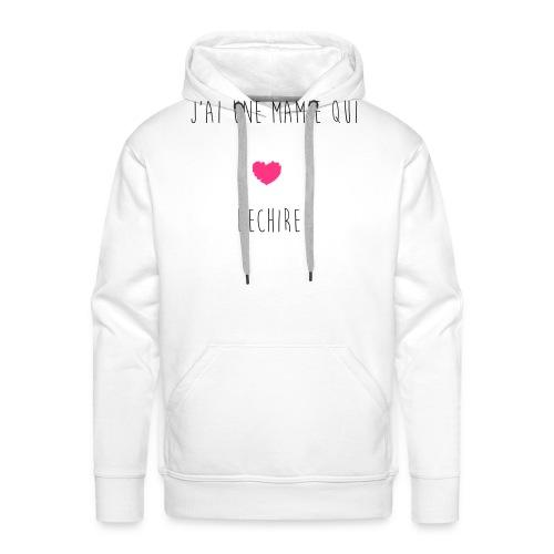 J'AI UNE MAMIE QUI DECHIRE - Sweat-shirt à capuche Premium pour hommes