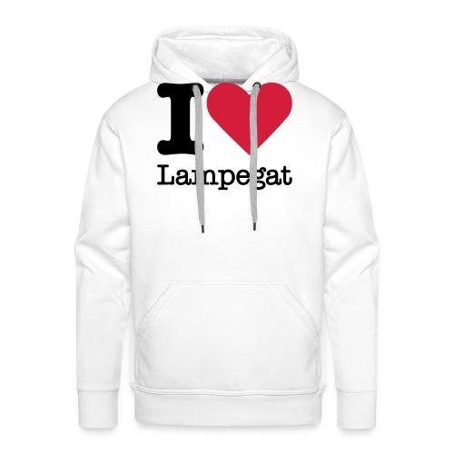 I Love Lampegat - Mannen Premium hoodie