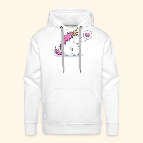 Fat Unicorn with Heart - Männer Premium Hoodie