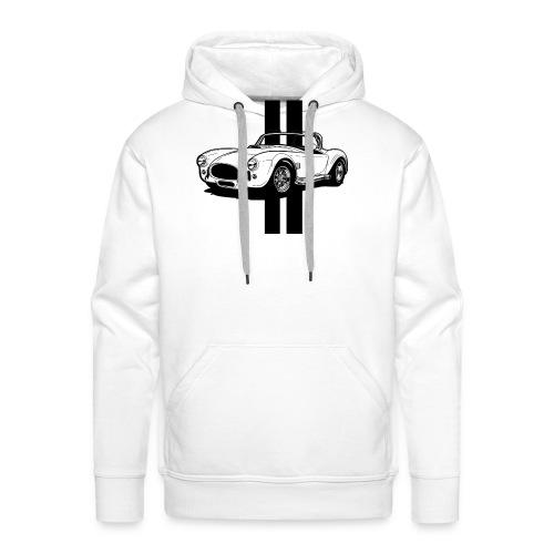 Cobra sur Stripes - Sweat-shirt à capuche Premium pour hommes