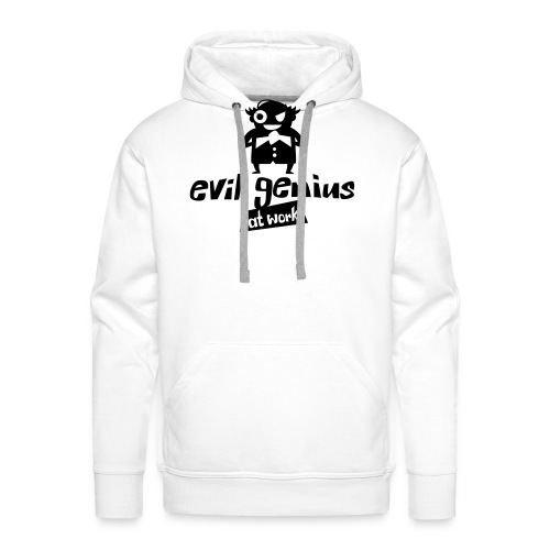 evil genius at work - Männer Premium Hoodie