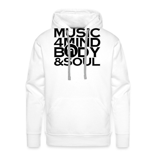 Music 4 Mind, Body & Soul Black - Men's Premium Hoodie