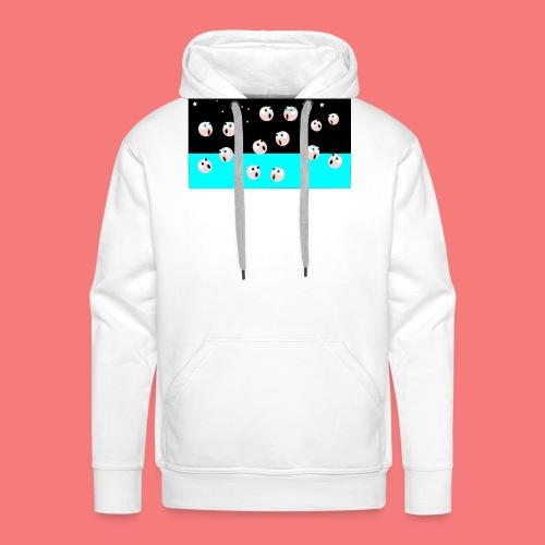 emoji looking for spacebar - Men's Premium Hoodie