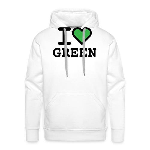 i-love-green-2.png - Felpa con cappuccio premium da uomo