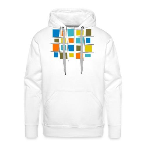 colored patchwork - Felpa con cappuccio premium da uomo