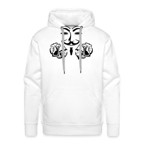 anonymous boit mousse biere alcool humou - Sweat-shirt à capuche Premium pour hommes