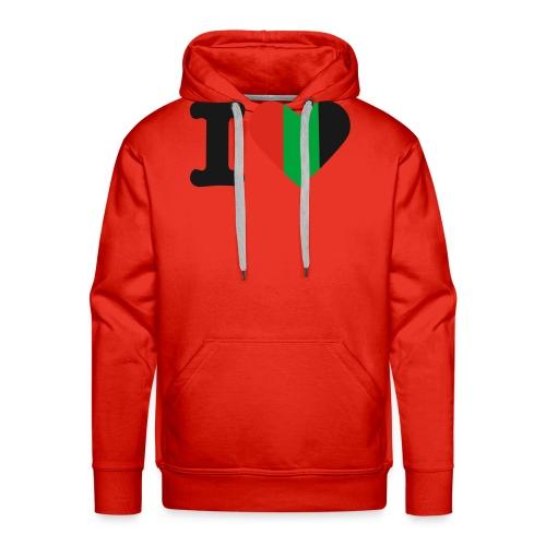 hartjeroodzwartgroen - Mannen Premium hoodie