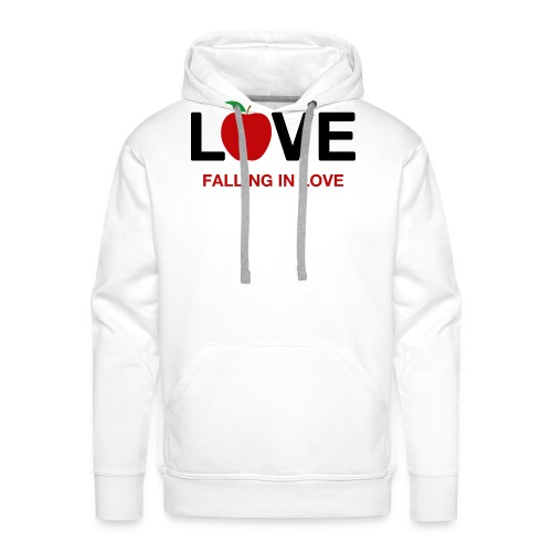 Falling in Love - Black - Men's Premium Hoodie