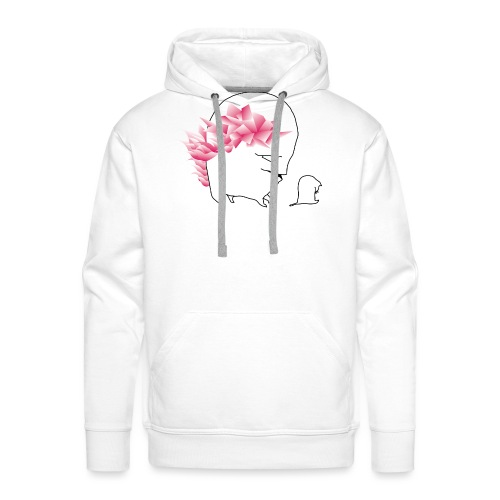 sad cat, with wild hair - Männer Premium Hoodie