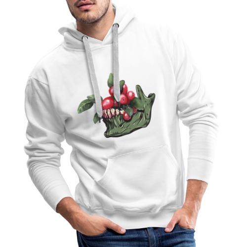 Skull Vegan - Sweat-shirt à capuche Premium pour hommes