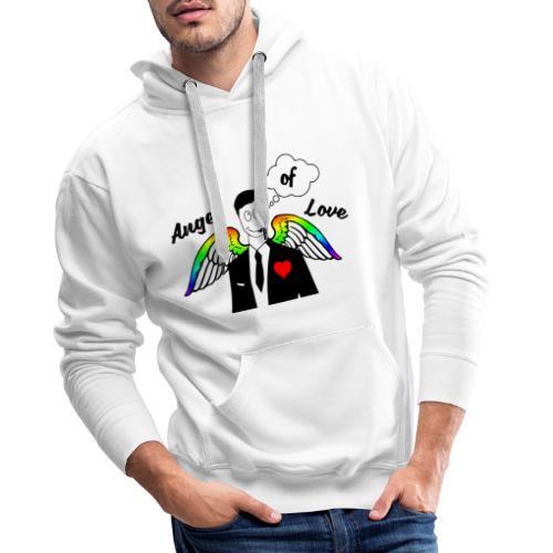 Angel of Love Regenbogen - Männer Premium Hoodie