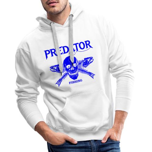 Predator fishing blue - Männer Premium Hoodie